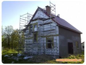 Утепление стен частного дома