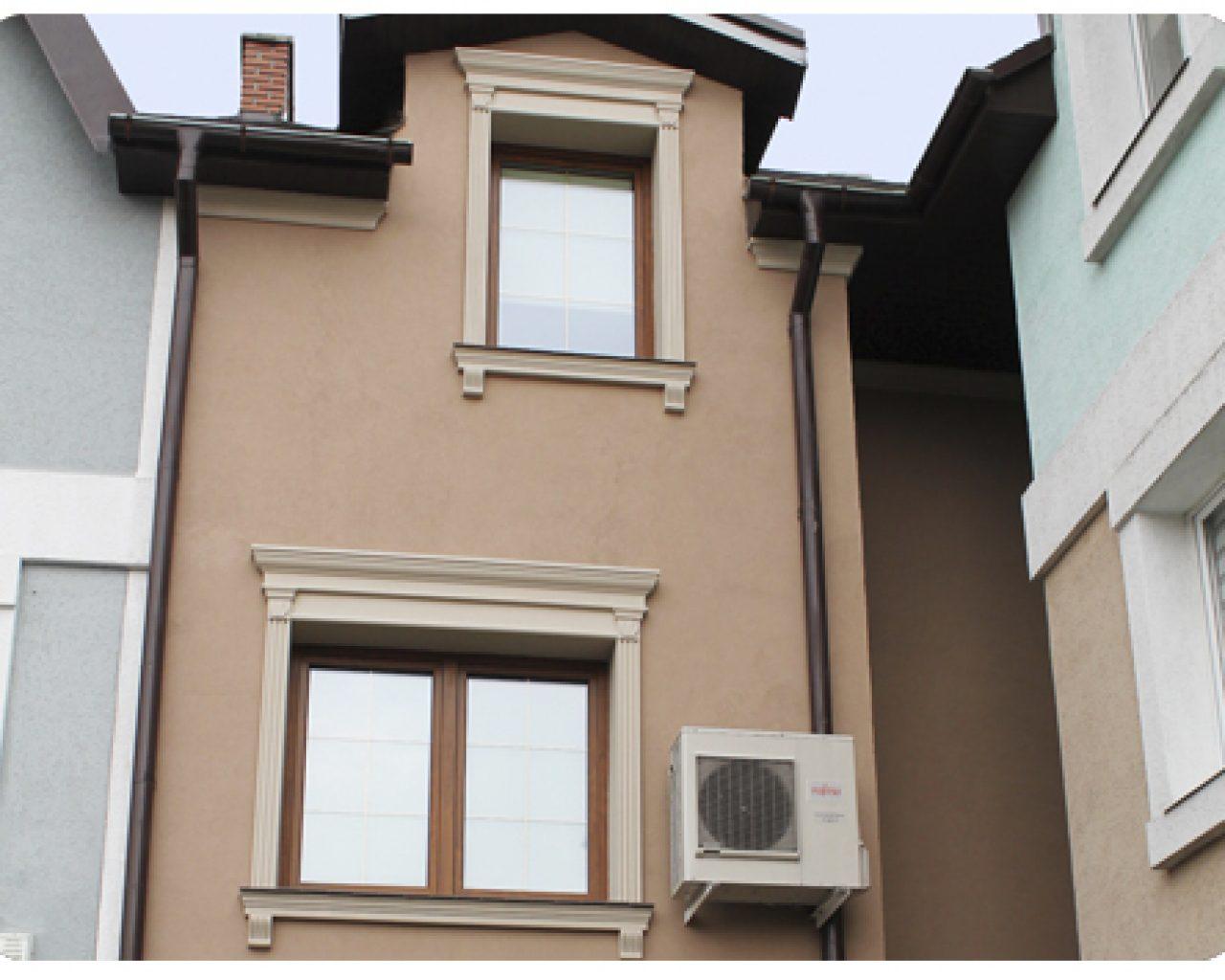 Фасад, короед, лепнина, Частный дом